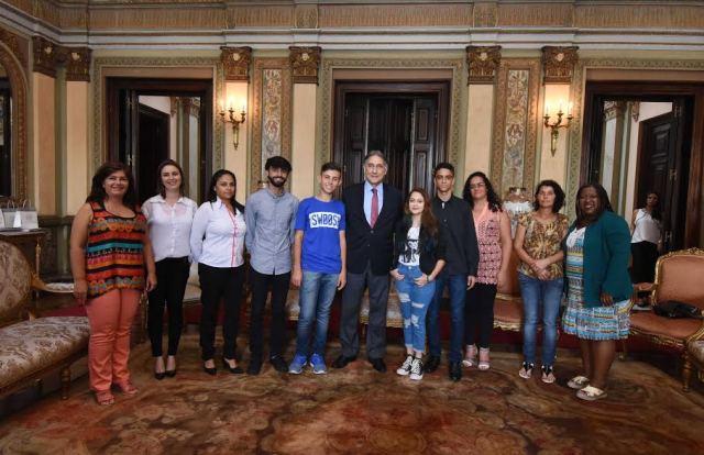 Encontro com os alunos que foram destaque em Minas Gerais.06-02-2017- Palácio da liberdade.Foto: Manoel Marques/imprensa-MG