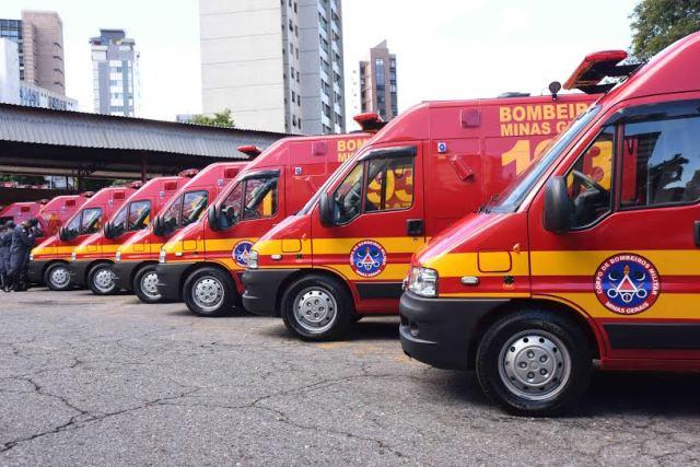 Governador Fernando Pimentel faz entrega de 35 unidades de resgate.21-02-2017-  Corpo de Bombeiros.Foto: Manoel Marques/imprensa-MG