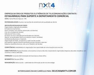 Vaga de Emprego_Estagio_Assistente Comercial