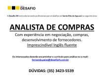 Divulgação vagas - ANALISTA COMPRAS