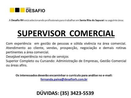Divulgação vagas - supervisor comercial